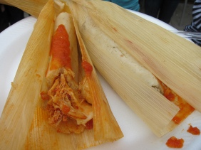 pork and chicken tamales