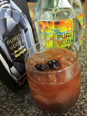Moscow Mule variation - with Angostura and Filthy cherries