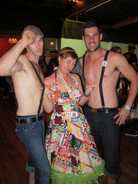 Hollis Bulleit with LA boys Zack & Adrian