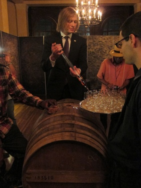 Drinking straight from the barrel