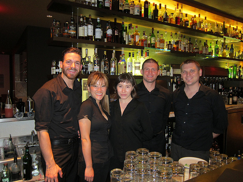 Drago Centro crew- Head Bartender Jaymee Mandeville second from the left