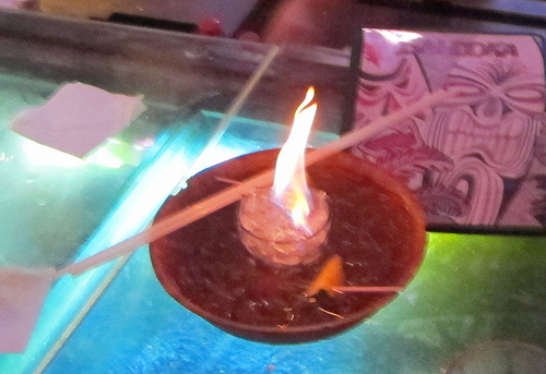 flaming bowl of booze