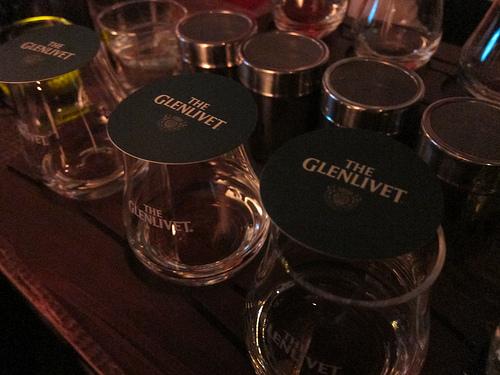 Glenlivet Scotch tasting