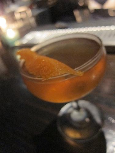 A stirred Caliche Cocktail