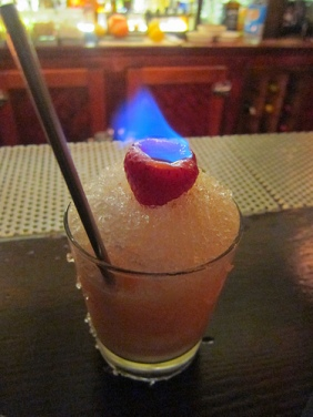 Strawberry Colada on Fire