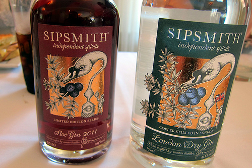Sipsmith Sloe and London Dry gins