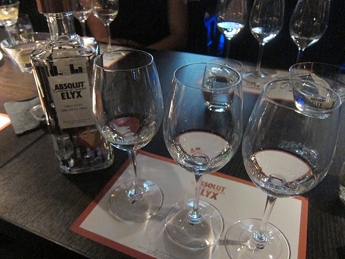 vodka tasting with Absolut Elyx
