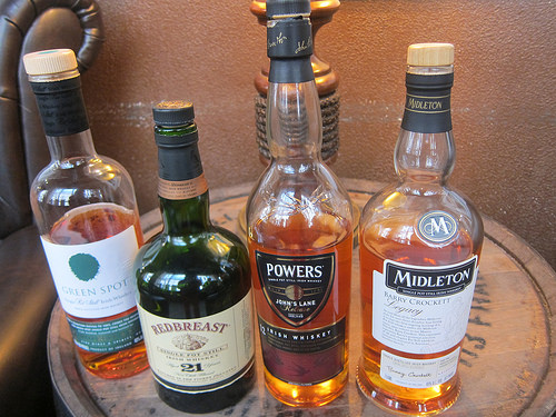 Irish Whiskeys - Green Spot, Redbreast 21, Powers 12, Middleton