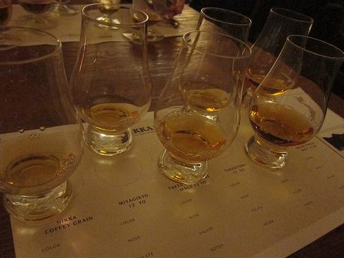 Nikka whisky tasting
