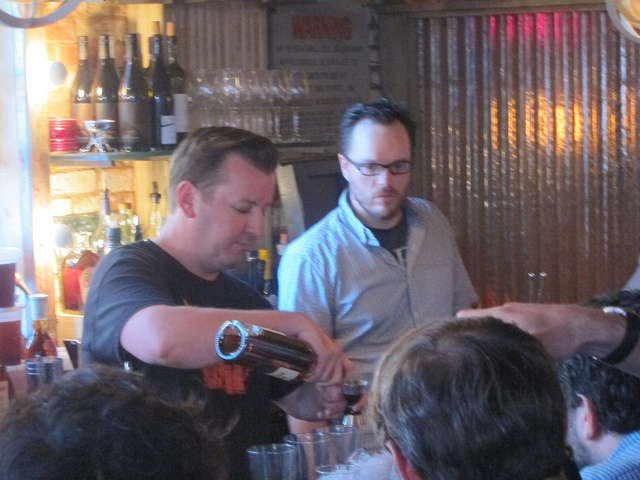 Adam Robinson, winner of last year's Experience Cognac throwdown at Extra Fancy, Brooklyn