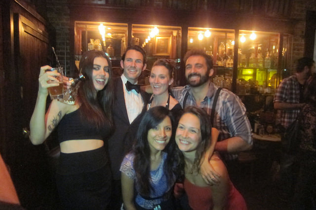 Hopeful bartenders competing for a trip to TOTC at the Amaro Montenegro competition, May 2015